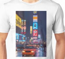 Times square and yellow taxi Unisex T-Shirt