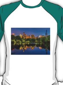 Central park at twlight with reflections T-Shirt