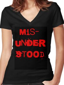 Misunderstood Women's Fitted V-Neck T-Shirt