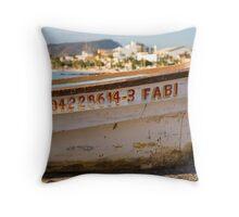 Fabi - La Paz Boat on the Malecon Throw Pillow