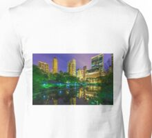 Central park at twlight with reflections Unisex T-Shirt