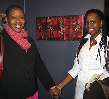 Iyahna, me, and Crossing the Road, Polyptych (4) by Makeba Kedem-DuBose