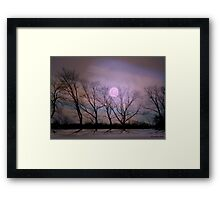 Bare souls under moonlight Framed Print
