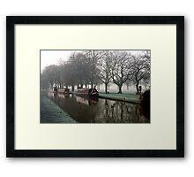 Visitor Moorings Beside Shobnal Fields Framed Print