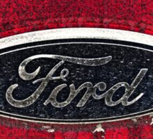 Ford Truck Emblem Dirty Drawing Style Photograph Sticker