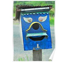 Funny Blue Face Box Poster
