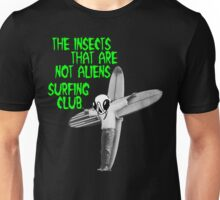 Insects Surfing Club t-shirt - green horror font Unisex T-Shirt