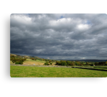 Storm Clouds, East of Monsal Head Canvas Print