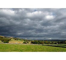Storm Clouds, East of Monsal Head Photographic Print