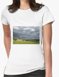 Storm Clouds, East of Monsal Head Womens Fitted T-Shirt