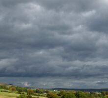 Storm Clouds, East of Monsal Head Sticker