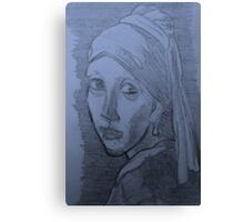 Girl   with  the  pearl  earring(A Copy) Canvas Print