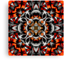 Abstract Perceptions in Red Canvas Print