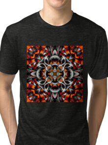 Abstract Perceptions in Red Tri-blend T-Shirt