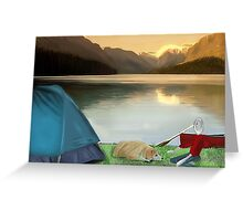 Corky's camping Greeting Card