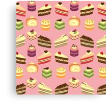 Cake Buffet Pattern Canvas Print