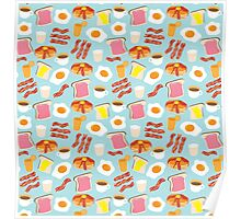 Breakfast Fun Pattern Poster