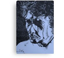 Bob Dylan  (another side) Canvas Print