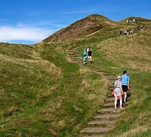 Walking Up Mam Tor by Rod Johnson