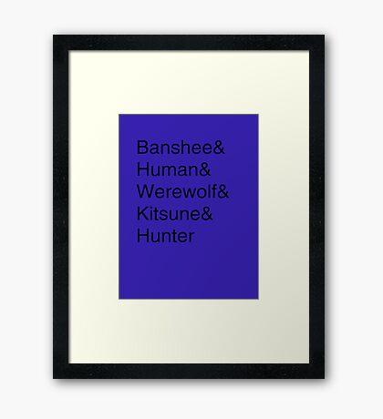 Teen Wolf Main Character Season 3 Framed Print