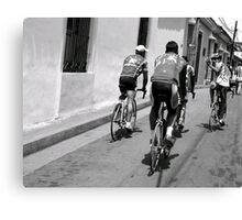 Cyclists Canvas Print