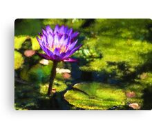 Waterlilies Impressions – Sunny Purple Pair Canvas Print