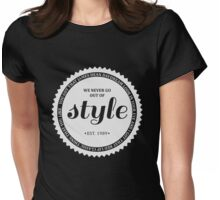 STYLE (white). Womens Fitted T-Shirt