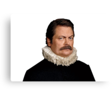 Victorian Ron Swanson - Parks and Rec. Canvas Print