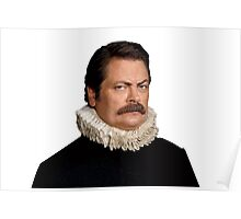 Victorian Ron Swanson - Parks and Rec. Poster