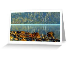Early morning Lake ST Claire Tasmania Greeting Card
