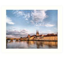 Danube Reflections Art Print