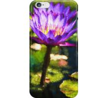Waterlilies Impressions – Sunny Purple Pair iPhone Case/Skin
