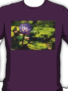 Waterlilies Impressions – Sunny Purple Pair T-Shirt