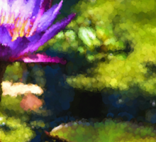 Waterlilies Impressions – Sunny Purple Pair Sticker
