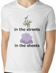 Arceus in the streets - Ditto in the sheets (A) Mens V-Neck T-Shirt