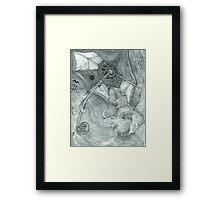 Ganesha Opening the Bookweb Framed Print