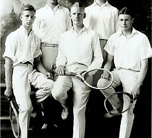 1921 Tennis Team by FrankChapman