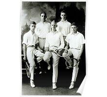 1921 Tennis Team Poster