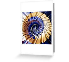 Twirling ripples Greeting Card