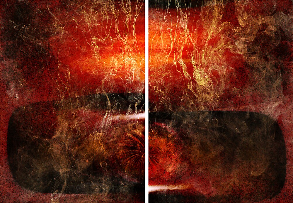 Opium (diptych) by Judy Olson