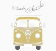 Colorful Samba van retro illustration Kids Tee