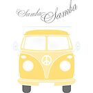 Colorful Samba van retro illustration by schtroumpf2510