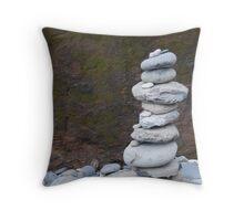 Rock Stack Throw Pillow