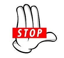 STOP ! Photographic Print