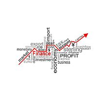 finance words Photographic Print