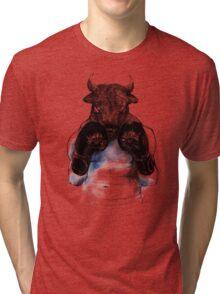 The eye of the Raging Bull Tri-blend T-Shirt