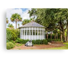 Gazebo and Cannon Canvas Print