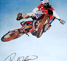 Rick Johnson 1986 Motocross des Nations Italy signed canvas wrap by robkinseyart