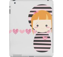 cute striped doll iPad Case/Skin
