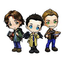 Supernatural - Dean, Sam and Castiel by Ladannnn